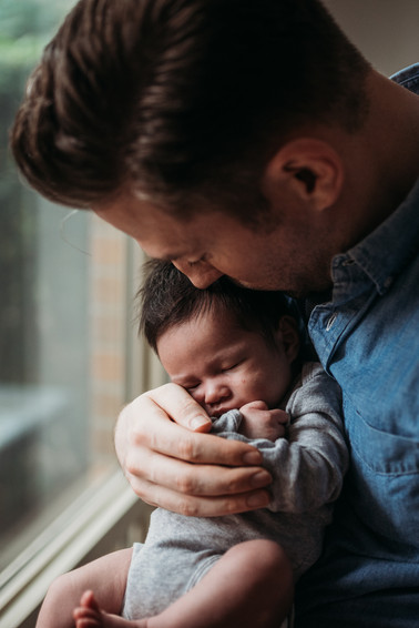 dad and baby newborn session