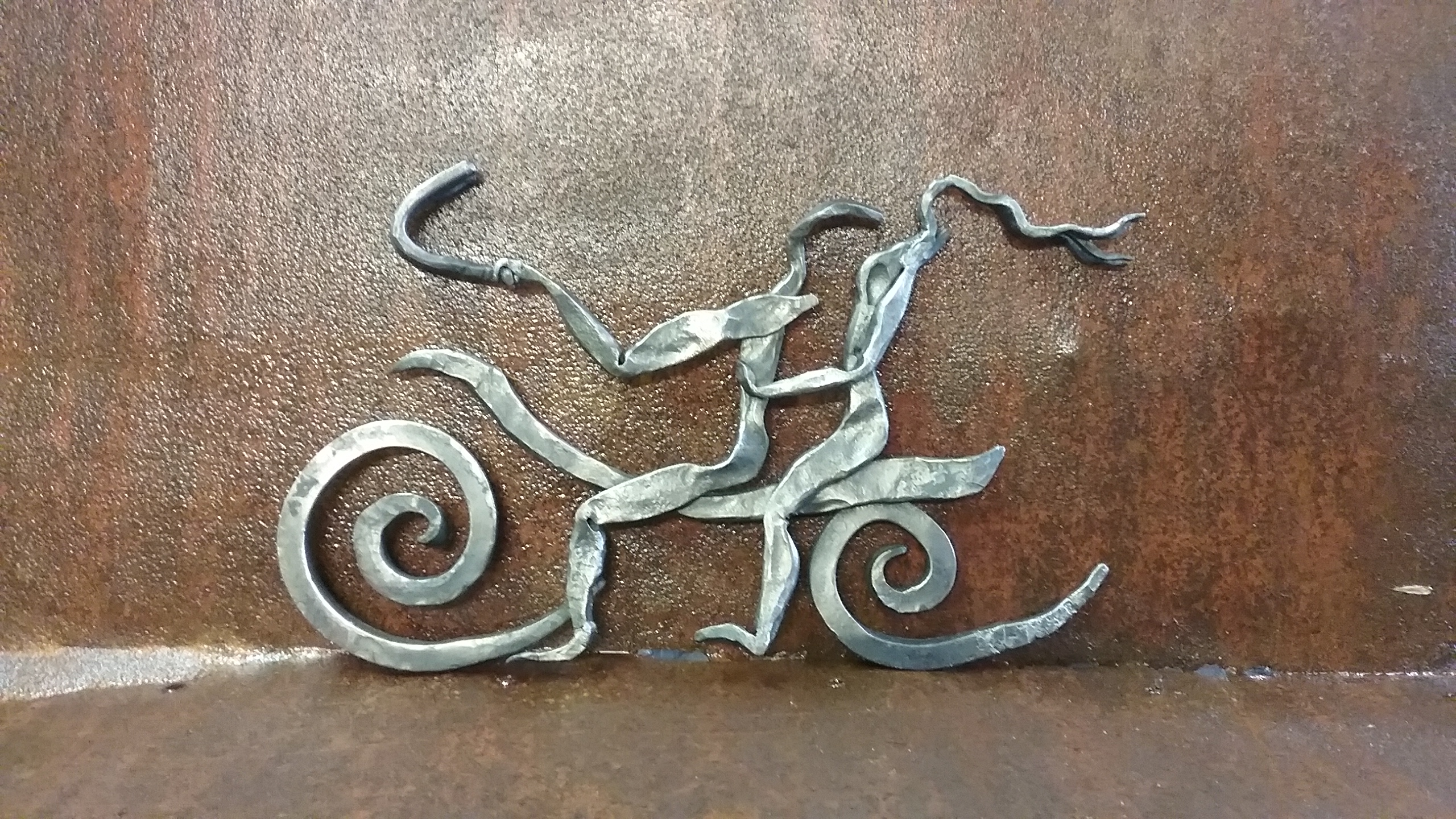 Slow Ride, a hand forged, metal art