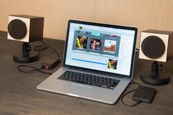 MH audio WAON x DA-1 x MacBook Pro