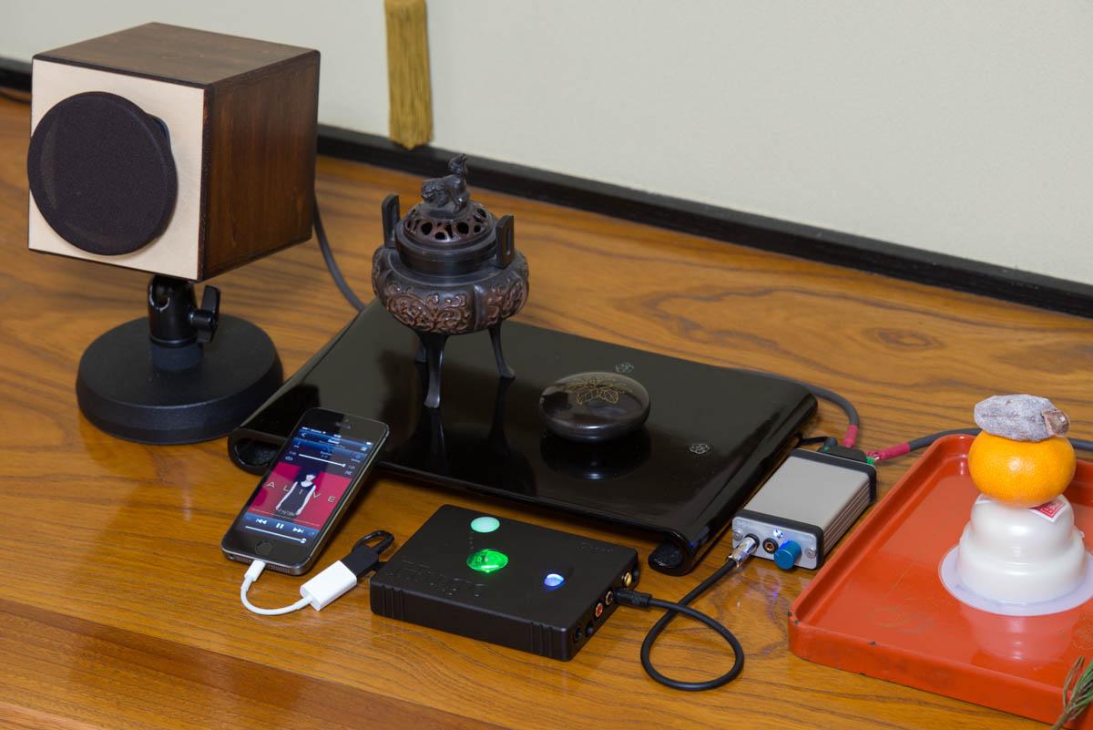 WAON専用スピーカースタンド使用例