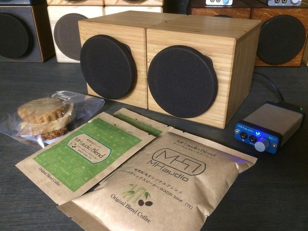 MHaudioスピーカーWAON、オリジナルブレンドコーヒー&お菓子