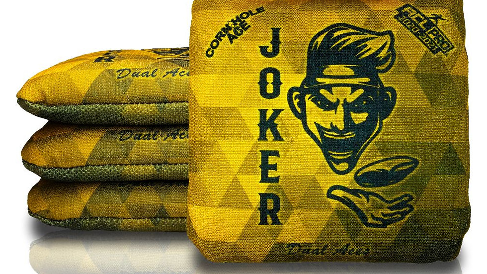Dual Aces – Jay Corley – JOKER – Yellow (Set of 4 Bags) – ACL Pro Stamped