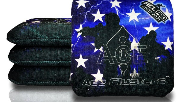 Blue Stars and Troops Cornhole Bags (Set of 4 Bags)