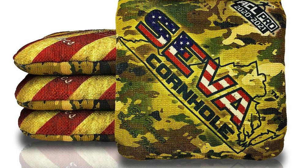 USA Flag and Camo Cornhole Bags (Set of 4 Bags)