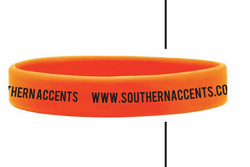 tri color wristbands - orange, black and white -(3)