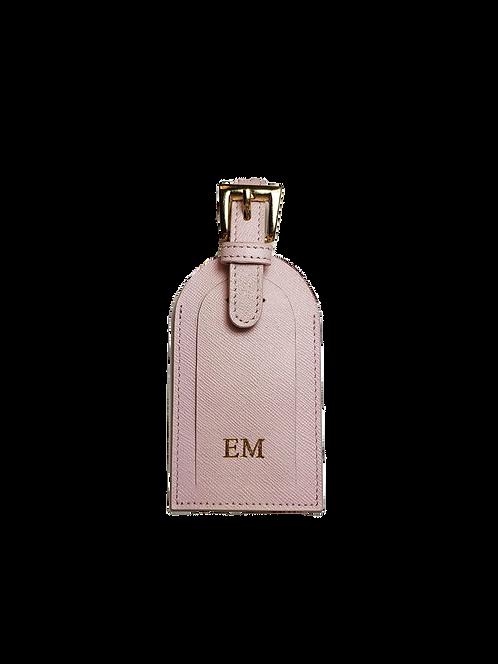 Blush luggage tag