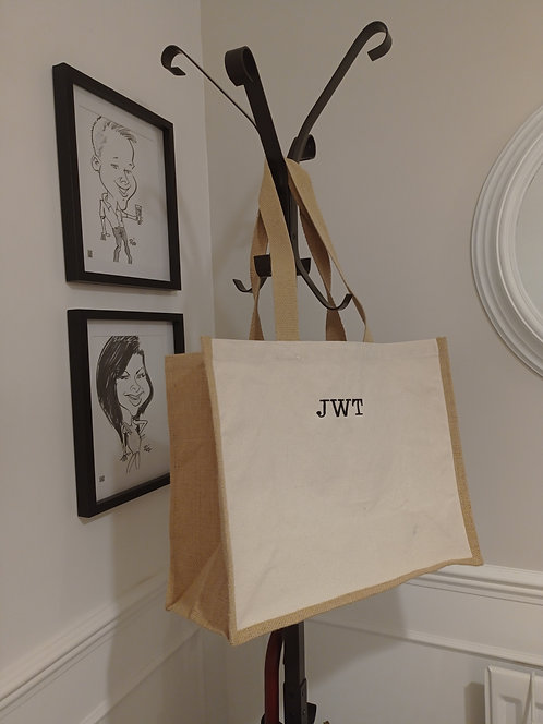 Embroidered Canvas/Jute Bag
