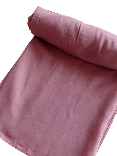 Dusky Pink Embroidered Scarf