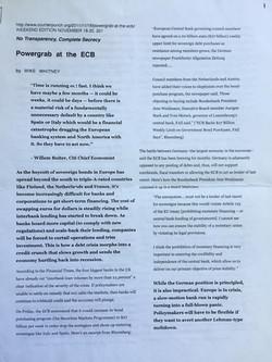 Powergrab at the ECB