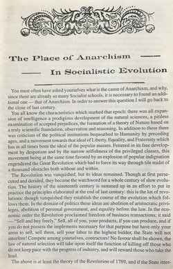 Place of Anarchism in Socialistic Evolution, The
