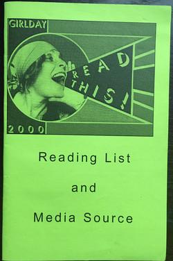 GirlDay 2000 Reading List & Media...