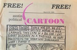 Austin Political Cartoon March 22, 1989.