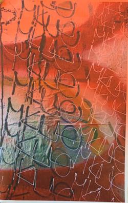 Untitled with graffiti & orange spray pa