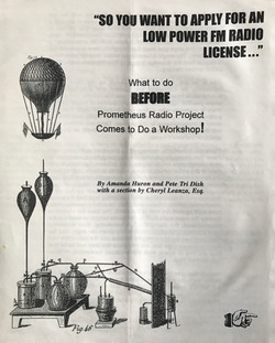 So You Want to Apply for an Low Power FM Radio License