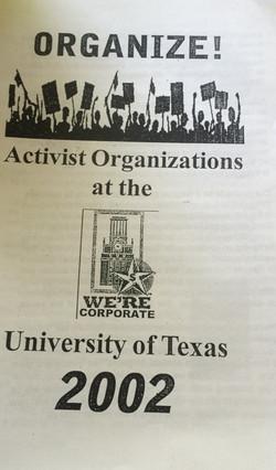 Organize! Activist Organizations at the University of Texas 2002