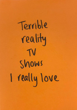 Terrible Reality TV Shows I Really Love.