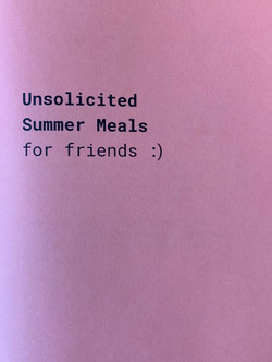 Unsolicited Summer Meals for Friends _).