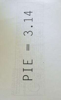 Pie = 3.14