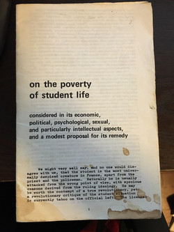 On the Poverty of Student Life