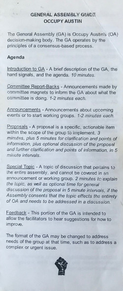 General Assembly Guide Occupy Austin