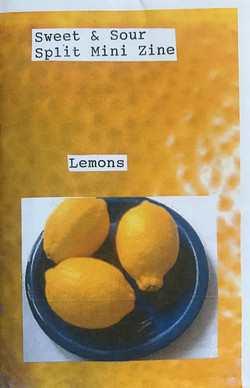 Sweet & Sour Split Mini Zine Lemons_Nectarines