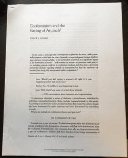 Ecofeminism & the Eating of Animals