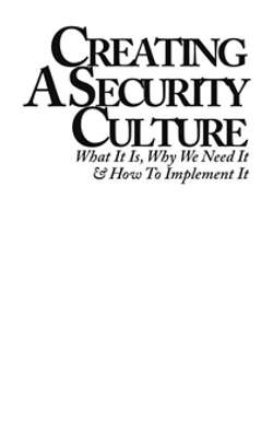 Creating a Security Culture