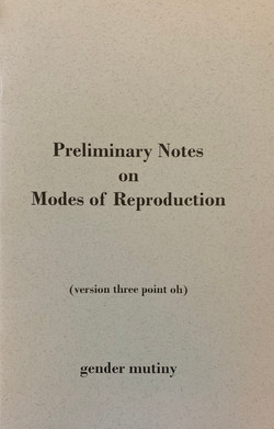 Preliminary Notes on Modes of Reproducti