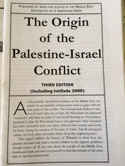 Origin of the Palestine-Israel