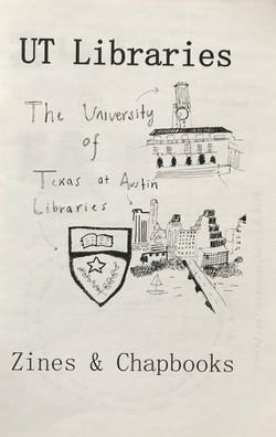UT Libraries Zines & Chapbooks