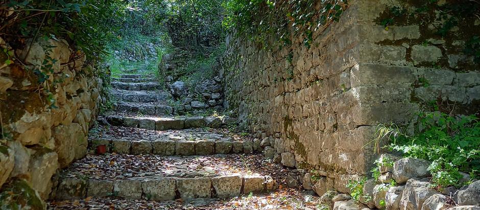 Medieval path of upper Muo in UNESCO region of Kotor