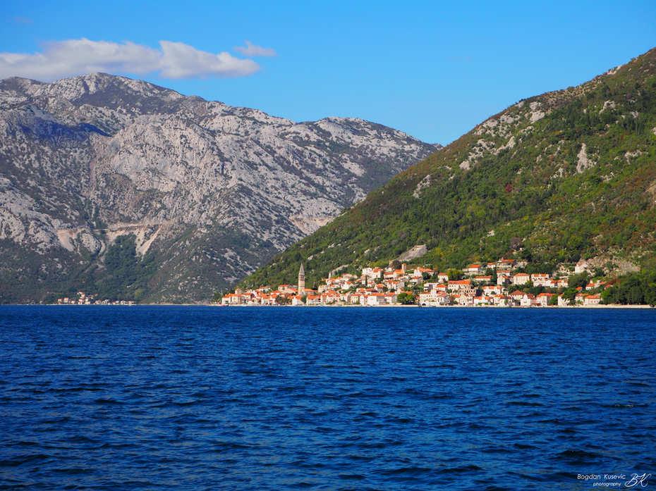 Sight towards Perast, Montenegro