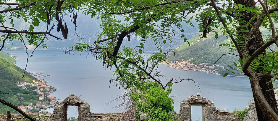 Abandoned houses in the village Gornji Stoliv in Bay of Kotor, Montenegro
