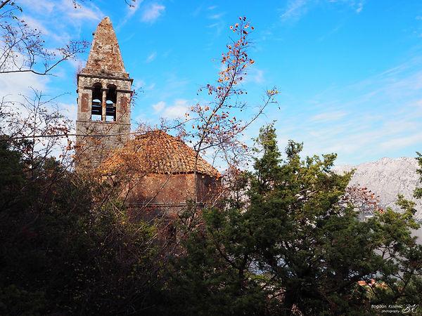Old church of Prcanj, Bay of Kotor, Montenegro