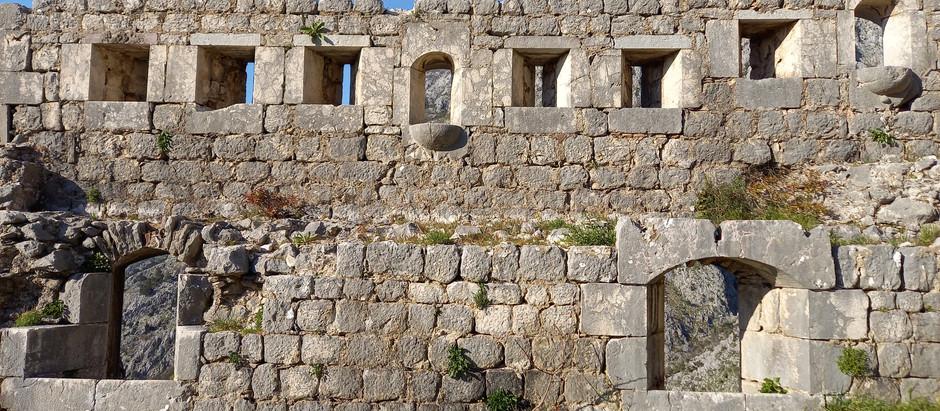 Kotor town ramparts