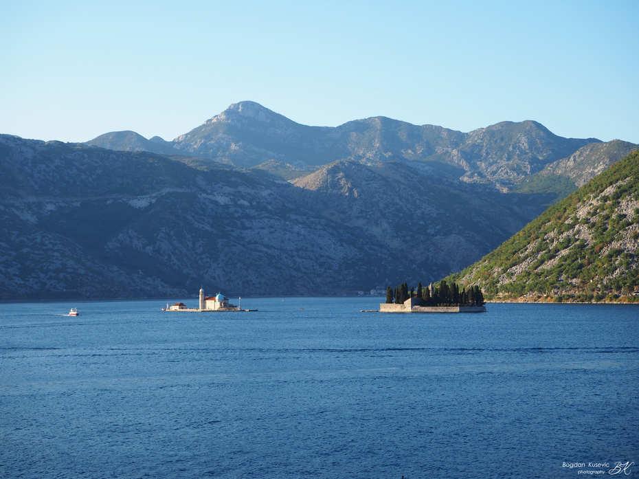 Islands in front of Perast, Bay of Kotor, Montenegro