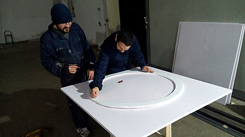 Una parte del carro di Carnevale dell'associazione Progetti Futuri