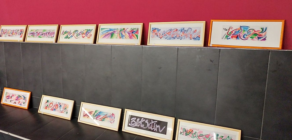 Mostra di grafica rino colletta dedicata al jazzista jazz Davis Miles