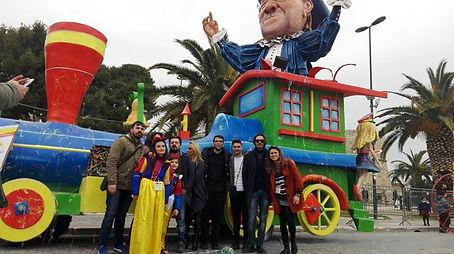 Carro di carnevale Lucio Dalla Carnevale  di Manfredonia 2017