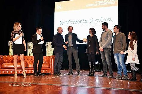 Premiazione della nostra associazione PROGETTI-FUTURI per il carro Carro di carnevale Lucio Dalla Carnevale  di Manfredonia 2017 Nunzio Favia