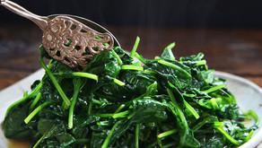 Sautéed Fresh Spinach