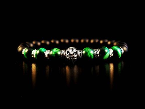 Hotei occhio tigre verde onice