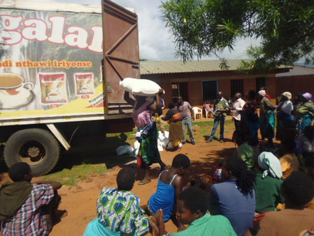 First Food Aid Distribution