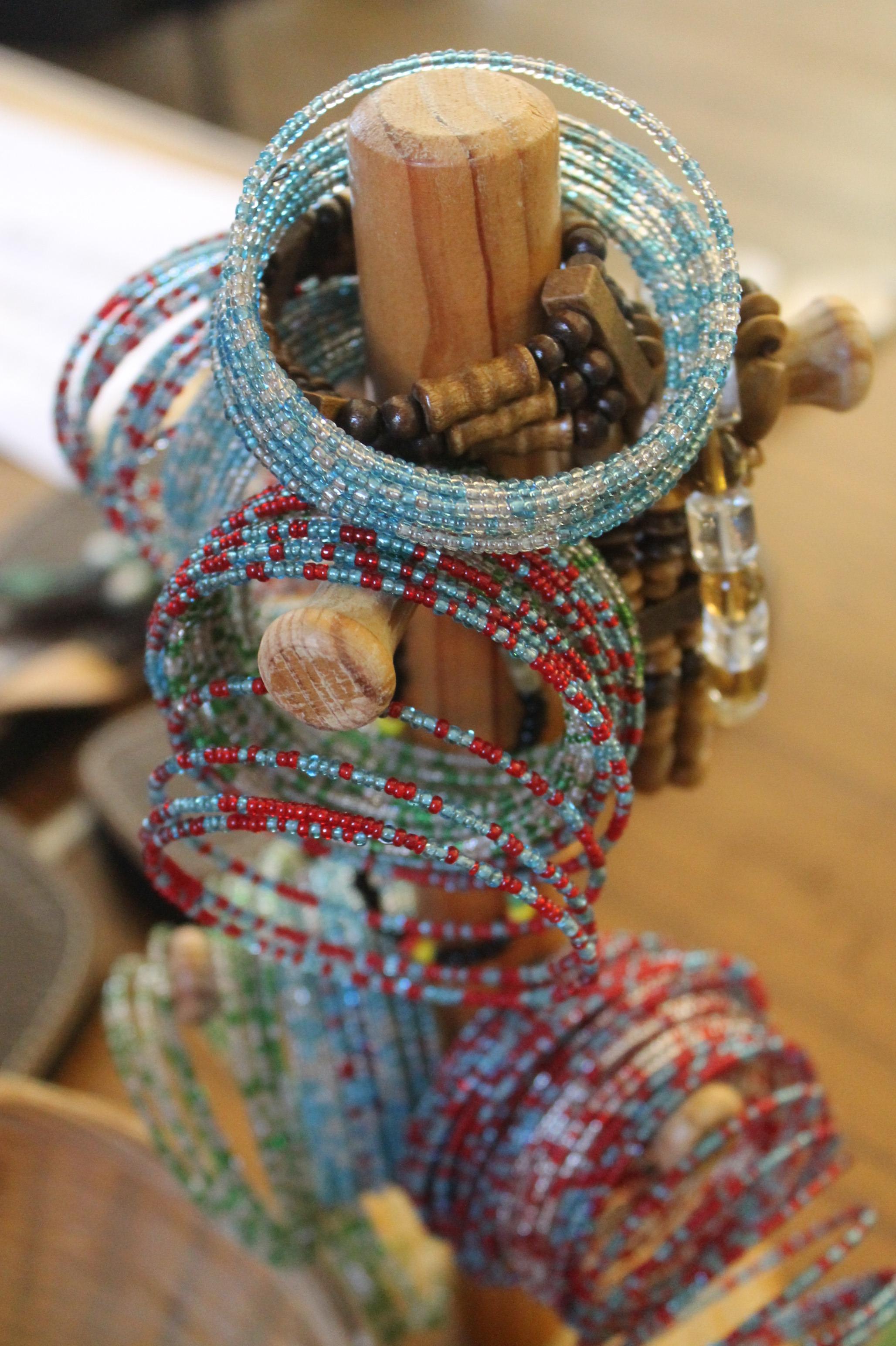 Intricate beaded bracelets
