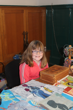 Louise, our youngest volunteer today