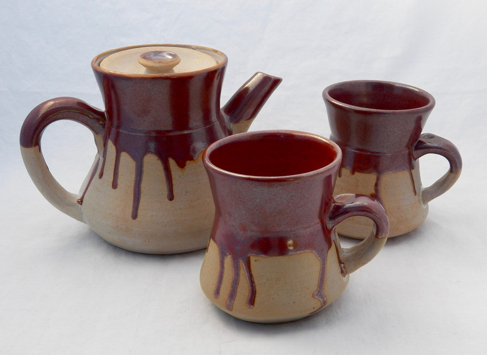 Red Coffee Set with Bowls 2017