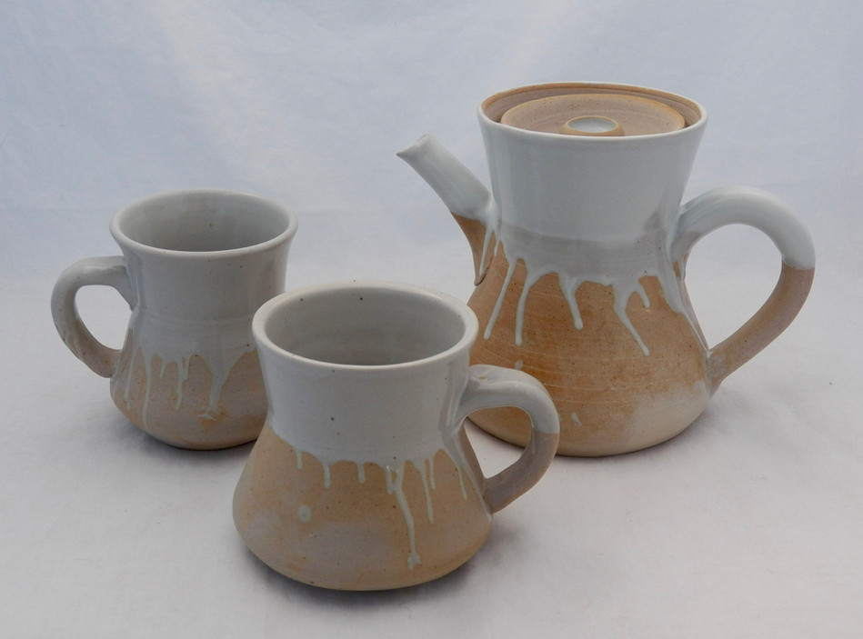 White Coffee Set with Bowls 2017