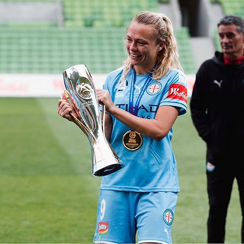 Our W-League champion🏆  She can't wait
