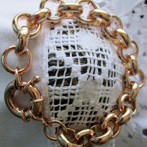 Bracelet maille Jaseron pl or rose ou jaune