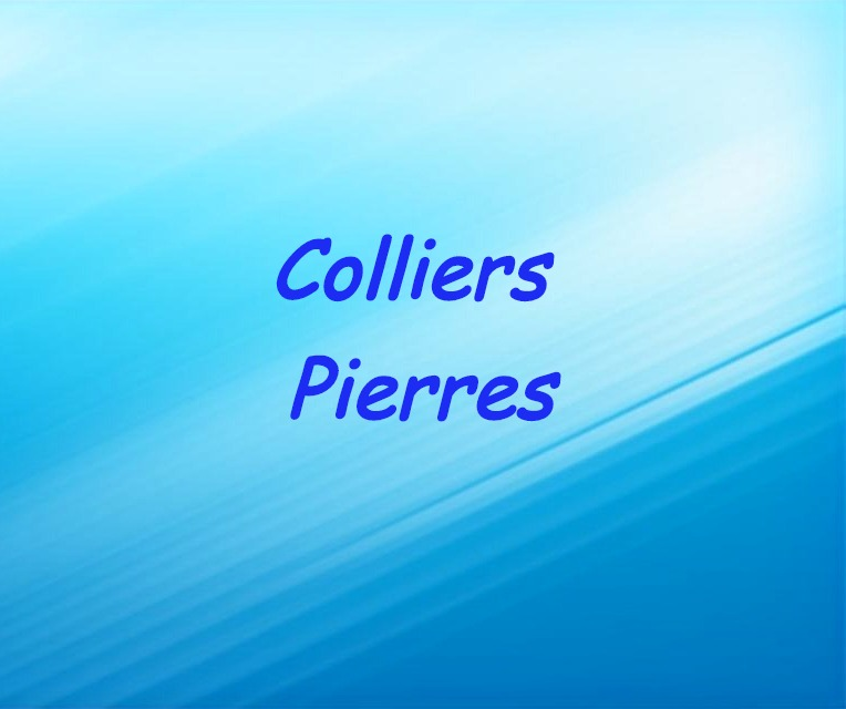 Colliers pierres